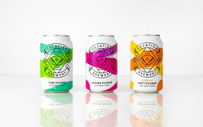 Vocation Brewery branding 2017
